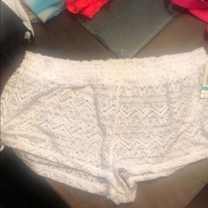 Bathing suit cover up shorts